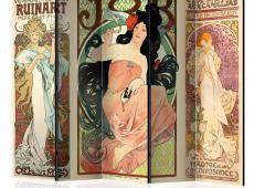 Paraván - Alphonse Mucha. Women's II [Room Dividers]